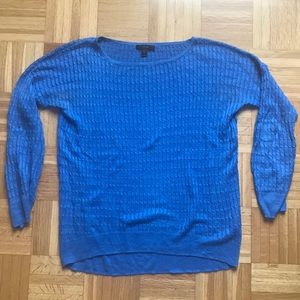 Blue J Crew Cable Sweated